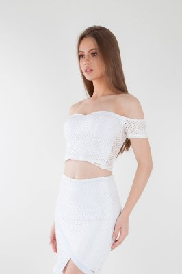 CROPPED HAPPY HOUR RENDA - BRANCO