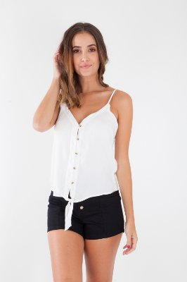 BLUSA ALÇA CASUAL COLLOR - OFF-WHITE