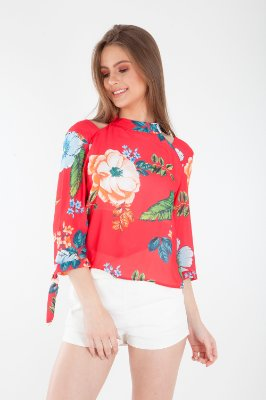 CAMISA HAPPY HOUR ESTAMPADA - FIELD BREEZE (100%)