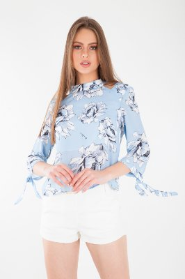 CAMISA HAPPY HOUR ESTAMPADA - LIGHT BLUE SKY