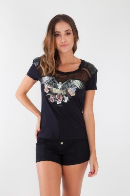 T-SHIRT HAPPY HOUR - PRETO