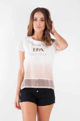 T-Shirt Bana Bana com Degradê Rose