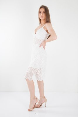 VESTIDO HAPPY HOUR DE RENDA - OFF-WHITE