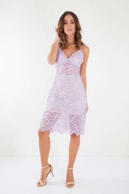 VESTIDO HAPPY HOUR DE RENDA - LILAS