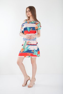 VESTIDO HAPPY HOUR ESTAMPADO - SUNSET