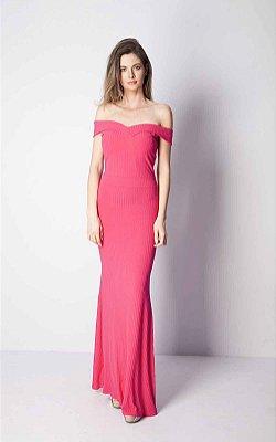 Vestido Longo Bana Bana Ombro a Ombro Pink