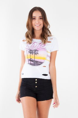 T-SHIRT CASUAL OLD - BRANCO