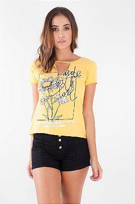 T-Shirt Bana Bana Chocker Amarelo