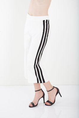 CALÇA PANTACOURT HAPPY HOUR COM LISTRA - OFF-WHITE