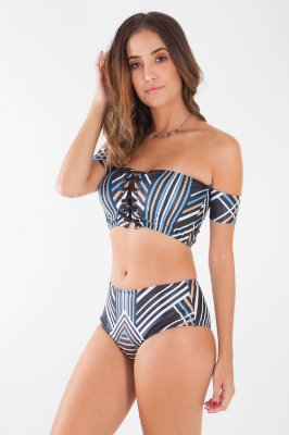 BIQUINI HAPPY HOUR - BEACH GEOMETRIC STRIPES_LOC
