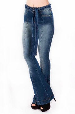 Calça Jeans Bana Bana High Boot Cut com Nervura