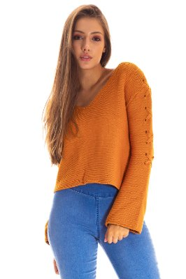 BLUSA TRICOT MANGA FLARE HAPPY HOUR