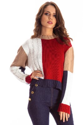 BLUSA COLOR TRICOT HAPPY HOUR