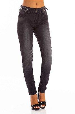 Calça Jeans Bana Bana Midi Skinny com Fivela no Cós