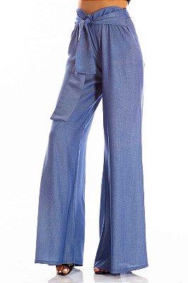 Calça Jeans Bana Bana Pantalona com Amarração