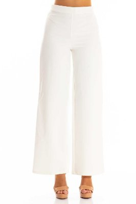 Calça Alfaiataria Bana Bana Pantalona Off White