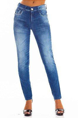 Calça Jeans Bana Bana Midi Skinny Bordada