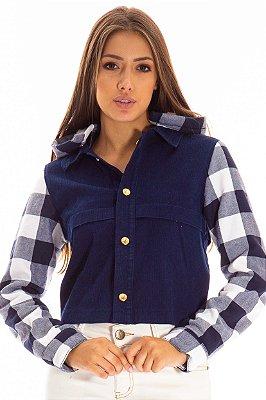 Jaqueta de Veludo Bana Bana com Xadrez