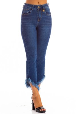 Calça Bana Bana Midi Boot Cut Cropped
