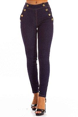 Calça Jeans Bana Bana Midi Skinny com Botões