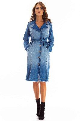Casaco Jeans Bana Bana Trench Coat