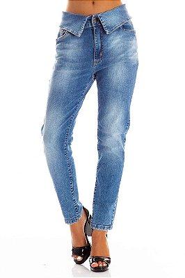 Calça Jeans Bana Bana Girlfriend com Cós Dobrado