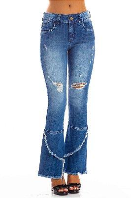 Calça Jeans Bana Bana Midi Boot Cut