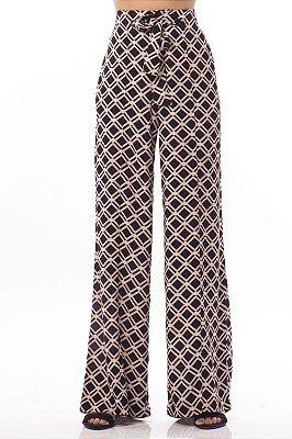 Calça Alfaiataria Bana Bana Pantalona Estampada