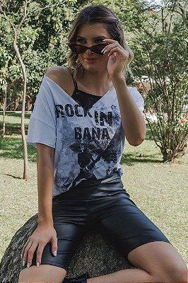 T-shirt Bana Bana Festival Rock Branco