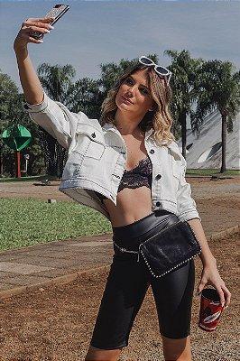 Jaqueta Jeans Bana Bana de Franjas