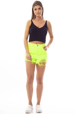 Shorts Jeans Amanda Bana Bana Festival Fluor