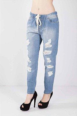 Calça Jeans Bana Bana Girlfriend com Elástico