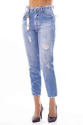 Calça Jeans Bana Bana Amanda com Estampa a Laser