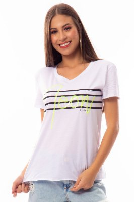 T-Shirt Bana Bana com Detalhe Neon