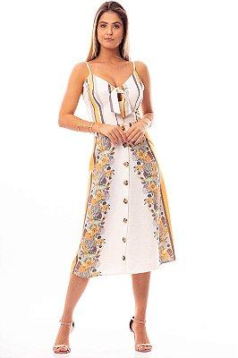 Vestido Midi Bana Bana com Amarração