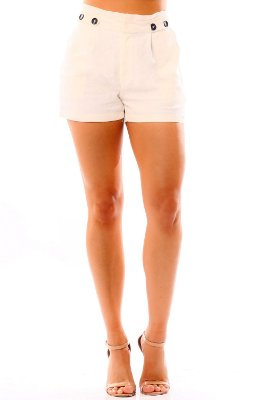 SHORTS HAPPY HOUR LINHO - OFF-WHITE