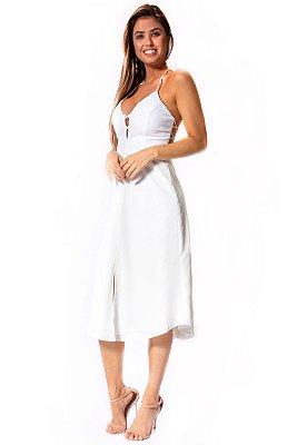 Vestido Midi Bana Bana Frente Única Off White