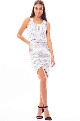 Vestido Curto Bana Bana Transpassado Branco