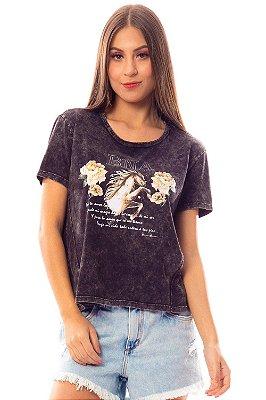 T-Shirt Bana Bana com Estampa Preto