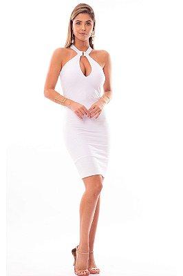 Vestido Curto Bana Bana Frente Única Branco