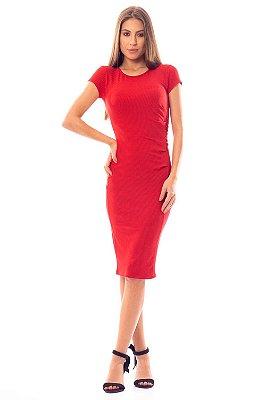 Vestido Midi Bana Bana Vermelho