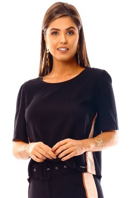 BLUSA HAPPY HOUR - PRETO