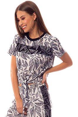 T-Shirt Bana Bana com Estampa e Amarração