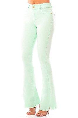 Calça Jeans Bana Bana High Flare Verde Menta