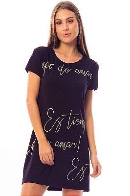 Vestido Bana Bana T-Shirt Preto
