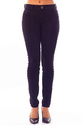 Calça Jeans Bana Bana Midi Skinny Preta