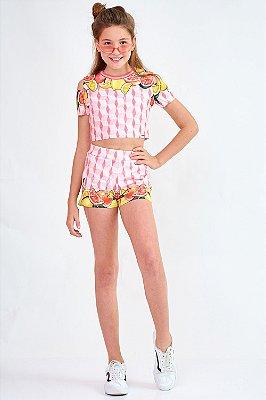 Conjunto Bana Bana Star Cropped e Shorts
