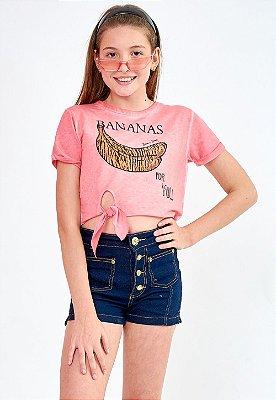 Blusa Bana Bana Star T-Shirt Coral