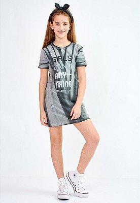 Vestido Bana Bana Star T-Shirt Preto