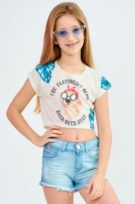 Blusa Bana Bana Star com Estampa Dog